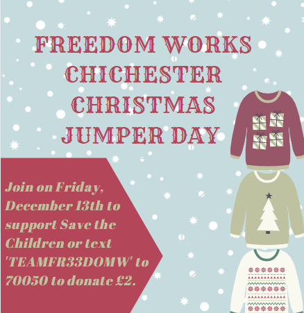 Freedom Works Chichester Christmas Jumper Day