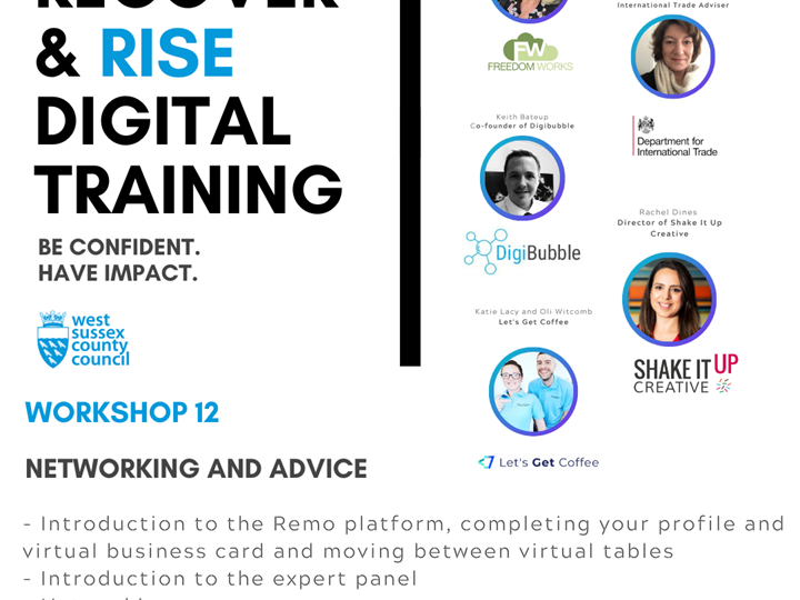 West Sussex Recover and Rise Digital Training - #12 Networking and Advice